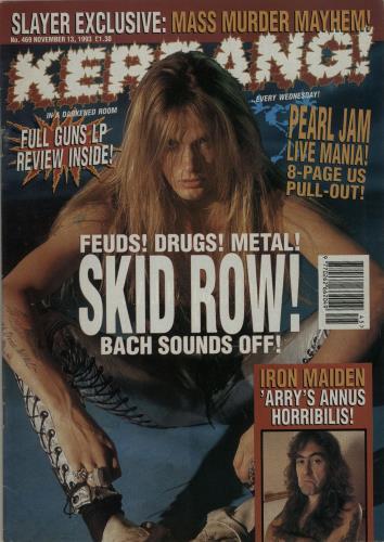 Kerrang! Magazine Kerrang! Magazine - Nov 93 magazine UK K-ZMAKE653638