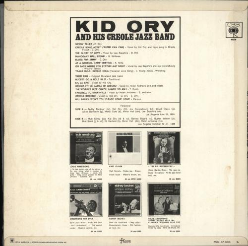Kid Ory Kid Ory And His Creole Jazz Band vinyl LP album (LP record) French KB5LPKI708907