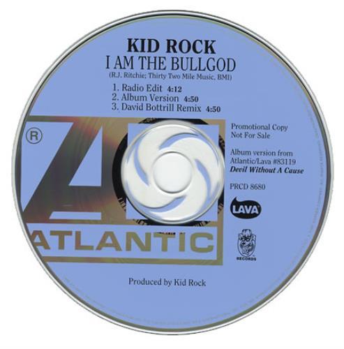 "Kid Rock I Am The Bullgod CD single (CD5 / 5"") US KDRC5IA142165"