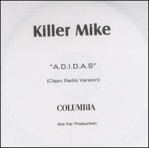 Killer Mike A.D.I.D.A.S. CD-R acetate UK K/MCRAD253354