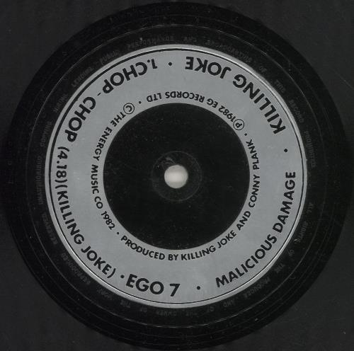 "Killing Joke Chop-Chop 7"" vinyl single (7 inch record) UK KIL07CH688529"