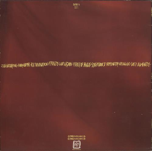 Killing Joke Fire Dances - EX vinyl LP album (LP record) UK KILLPFI731122