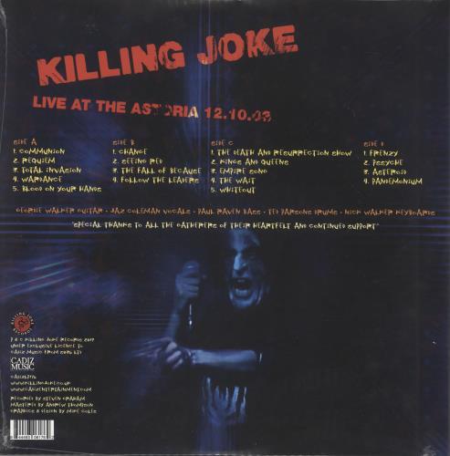 Killing Joke Malicious Damage - Live At The Astoria 12.10.03 - Sealed 2-LP vinyl record set (Double Album) UK KIL2LMA729752