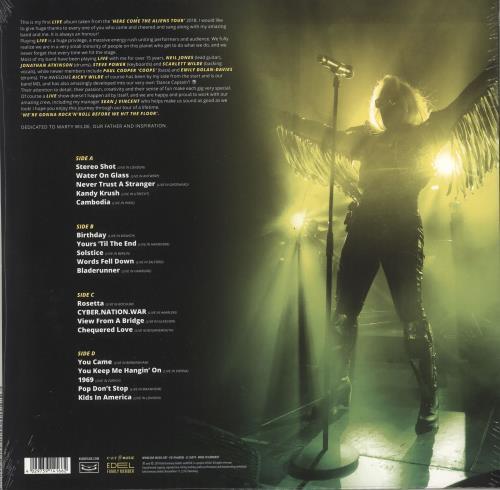 Kim Wilde Aliens Live - Neon Orange Vinyl - Sealed 2-LP vinyl record set (Double Album) UK WIL2LAL728119