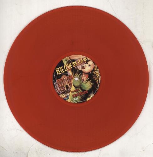 Kim Wilde Here Come The Aliens - Red Vinyl + Autographed vinyl LP album (LP record) UK WILLPHE710597