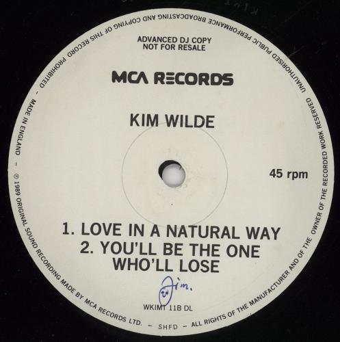 "Kim Wilde Love In The Natural Way 12"" vinyl single (12 inch record / Maxi-single) UK WIL12LO760143"