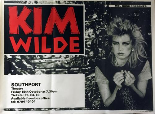 Kim Wilde Southport Theatre 1982 poster UK WILPOSO652678