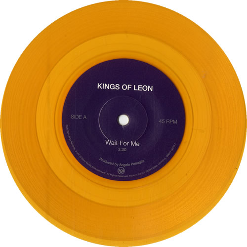 "Kings Of Leon Wait For Me - RSD14 - Yellow / Gold Vinyl 7"" vinyl single (7 inch record) UK KOL07WA602701"