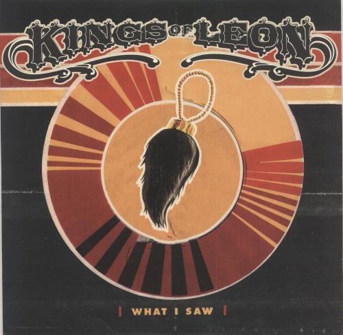 "Kings Of Leon What I Saw - Blue Vinyl + Numbered 10"" vinyl single (10"" record) UK KOL10WH246682"