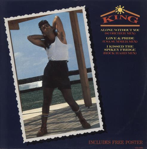 "King Alone Without You (Scorcher Mix) - Poster Sleeve 12"" vinyl single (12 inch record / Maxi-single) UK K-G12AL731194"