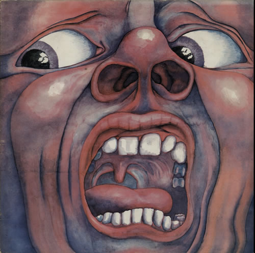 King Crimson In The Court Of - 2nd - Palm Tree - EX vinyl LP album (LP record) UK KNCLPIN584161