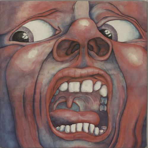 King Crimson In The Court Of - 2nd - Palm Tree - VG vinyl LP album (LP record) UK KNCLPIN308449