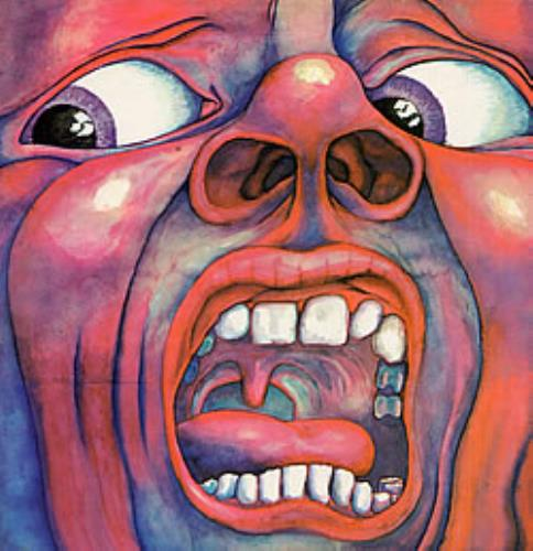 King Crimson In The Court Of The Crimson King - Palm Tree Label vinyl LP album (LP record) UK KNCLPIN61928