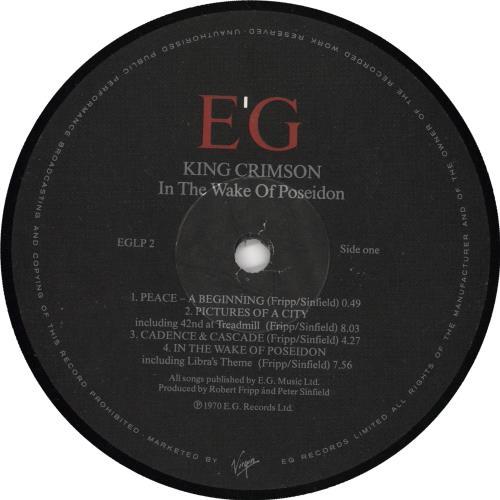 King Crimson In The Wake Of Poseidon vinyl LP album (LP record) UK KNCLPIN738370