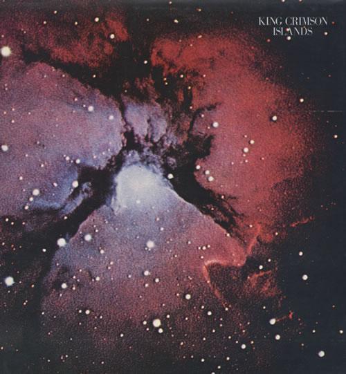 King Crimson Islands + lyric insert vinyl LP album (LP record) UK KNCLPIS521242