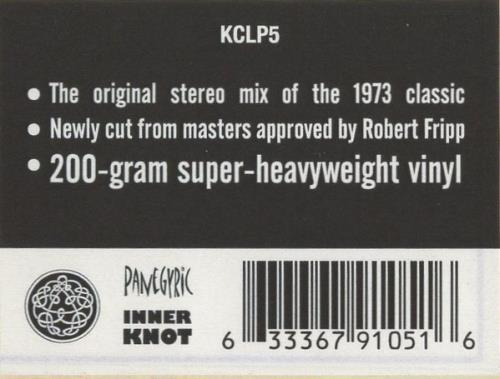 King Crimson Larks' Tongues In Aspic - 200 Gram - Sealed vinyl LP album (LP record) UK KNCLPLA709852