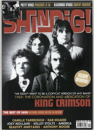 King Crimson Shindig! - Issue No. 110 magazine UK KNCMASH765844