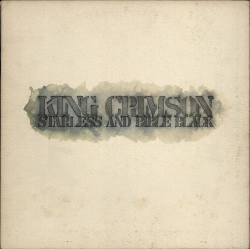 King Crimson Starless And Bible Black + Inner - VG vinyl LP album (LP record) UK KNCLPST595495