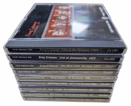 King Crimson The King Crimson Collectors Club Volumes 1-10 CD album (CDLP) UK KNCCDTH769935