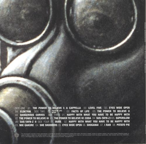 King Crimson The Power To Believe - 200gm Vinyl 2-LP vinyl record set (Double Album) UK KNC2LTH732827