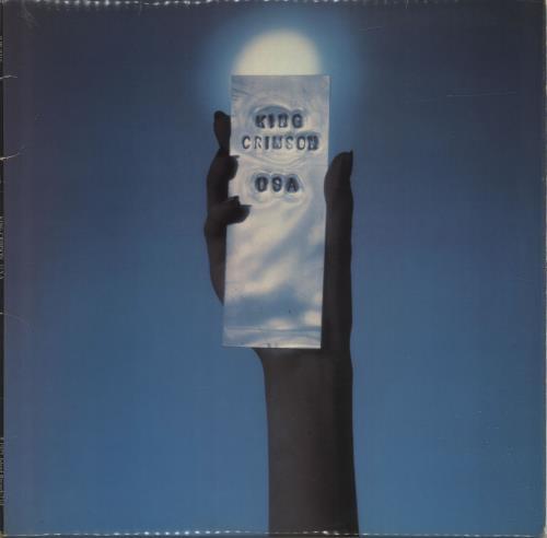 King Crimson USA - 1st - EX vinyl LP album (LP record) UK KNCLPUS584001