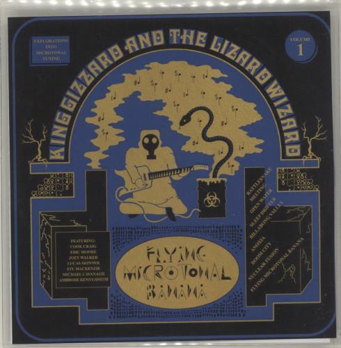 King Gizzard And The Lizard Wizard Flying Microtonal Banana CD-R acetate UK KZSCRFL680920