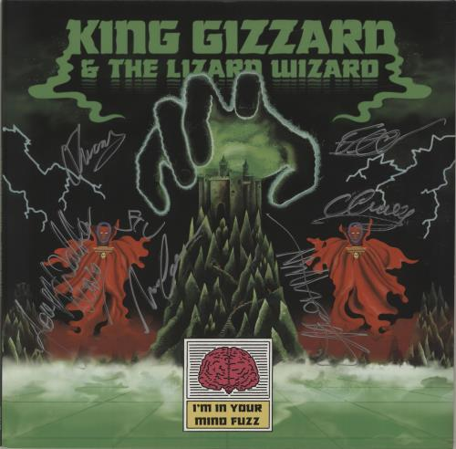 King Gizzard And The Lizard Wizard I'm In Your Mind Fuzz - Autographed vinyl LP album (LP record) UK KZSLPIM680351