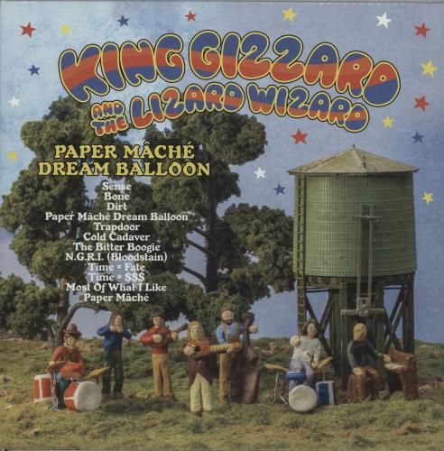 King Gizzard And The Lizard Wizard Paper Mâché Dream Balloon - Ultra Clear with Pink Blob  Vinyl vinyl LP album (LP record) Australian KZSLPPA660834