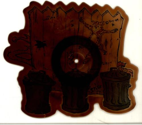 King Kurt Destination Zulu Land - Tea-stained shaped picture disc (picture disc vinyl record) UK K-KSHDE693803