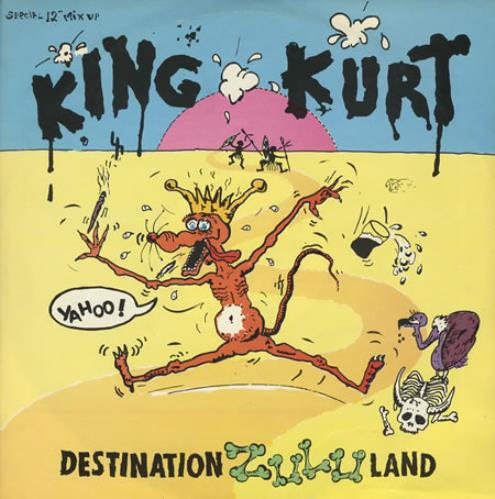 "King Kurt Destination Zululand 12"" vinyl single (12 inch record / Maxi-single) UK K-K12DE49507"