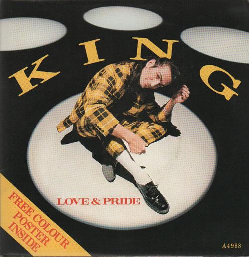 """King Love & Pride - Poster Sleeve 7"""" vinyl single (7 inch record) UK K-G07LO277847"""