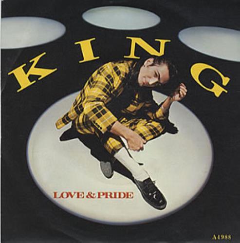 """King Love & Pride 7"""" vinyl single (7 inch record) UK K-G07LO182510"""