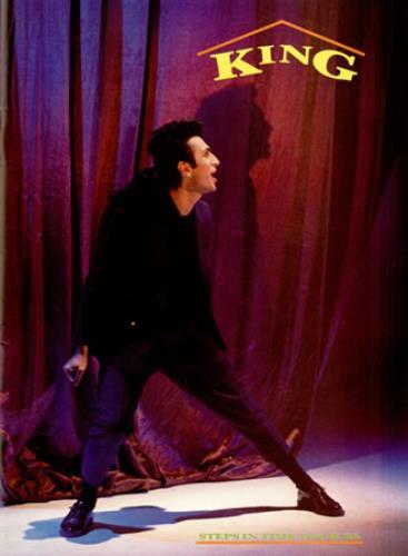 King Steps In Time Tour '85 + ticket stub tour programme UK K-GTRST389250