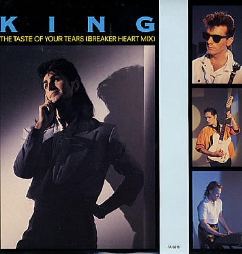 "King The Taste Of Your Tears 12"" vinyl single (12 inch record / Maxi-single) UK K-G12TH116254"