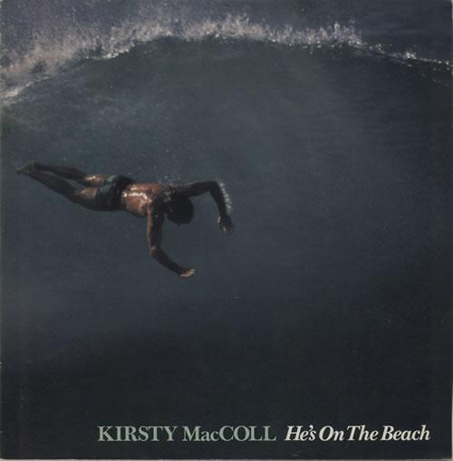 "Kirsty MacColl He's On The Beach 12"" vinyl single (12 inch record / Maxi-single) UK KIR12HE69566"