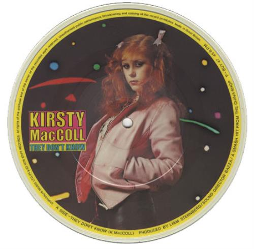 "Kirsty MacColl They Don't Know 7"" vinyl picture disc 7 inch picture disc single UK KIR7PTH31315"