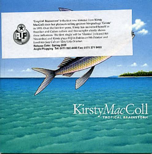 "Kirsty MacColl Tropical Brainstorm Sampler CD single (CD5 / 5"") UK KIRC5TR149005"