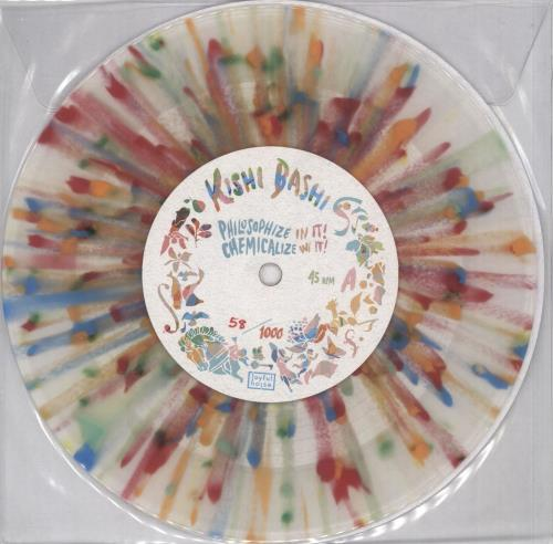 "Kishi Bashi Philosophize In It! Chemicalize With It! - Clear/Multi-Colour Splattered 7"" vinyl single (7 inch record) US OJ707PH710143"