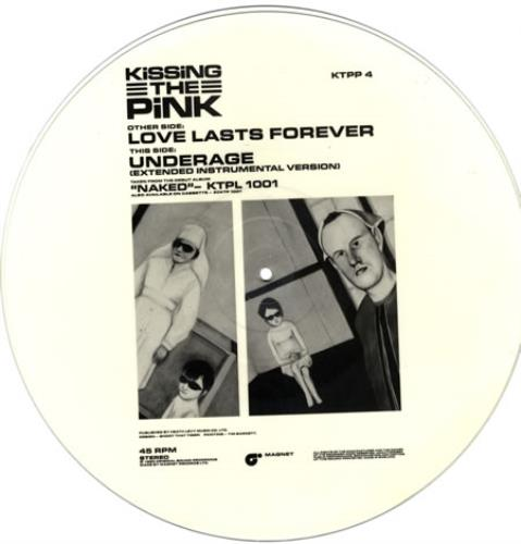 """Kissing The Pink Love Lasts Forever 12"""" vinyl picture disc 12inch picture disc record UK KTP2PLO52063"""