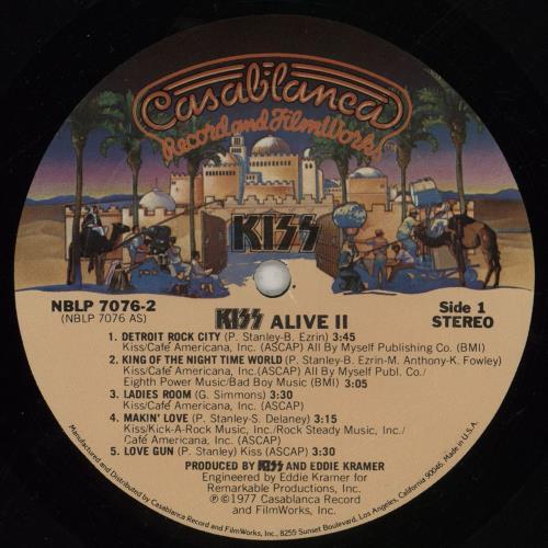 Kiss Alive II 2-LP vinyl record set (Double Album) US KIS2LAL573288