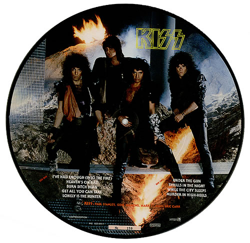 Kiss Animalize picture disc LP (vinyl picture disc album) Dutch KISPDAN14384