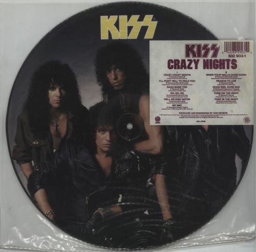 Kiss Crazy Nights picture disc LP (vinyl picture disc album) UK KISPDCR14375