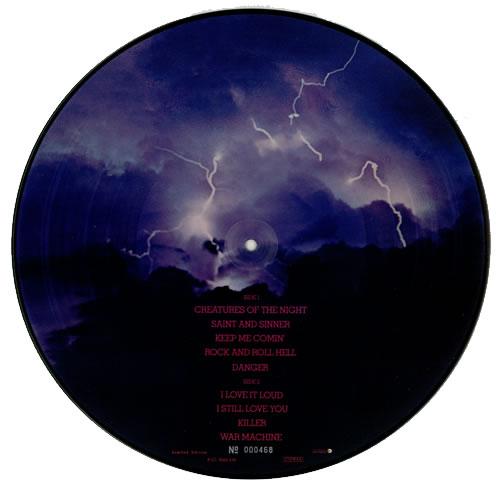 Kiss Creatures Of The Night picture disc LP (vinyl picture disc album) Dutch KISPDCR00886