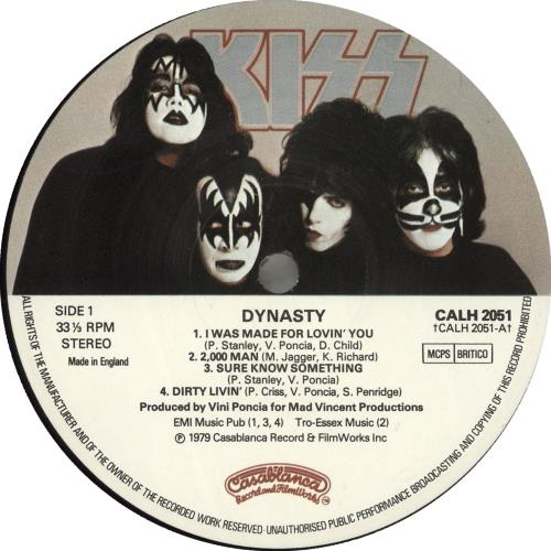 Kiss Dynasty vinyl LP album (LP record) UK KISLPDY98742