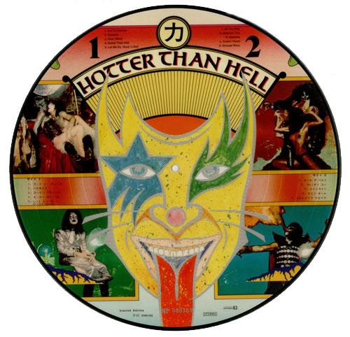 Kiss Hotter Than Hell picture disc LP (vinyl picture disc album) Dutch KISPDHO00891