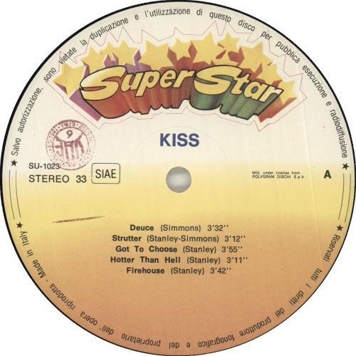 Kiss Hotter Than Metal vinyl LP album (LP record) Italian KISLPHO11812