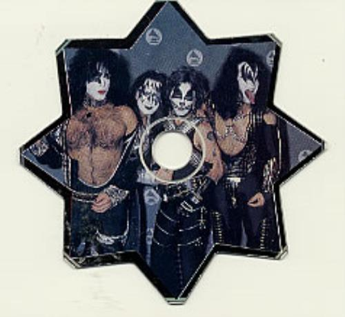 """Kiss Interview With Gene - Star Shaped Disc CD single (CD5 / 5"""") UK KISC5IN80747"""