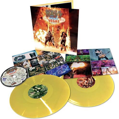 Kiss Kiss Rocks Vegas Nevada - Yellow Vinyl + DVD - Sealed 2-LP vinyl record set (Double Album) UK KIS2LKI758610