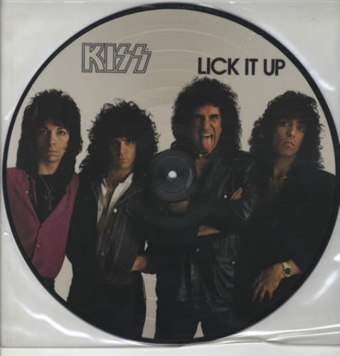 Kiss Lick It Up picture disc LP (vinyl picture disc album) Dutch KISPDLI14357