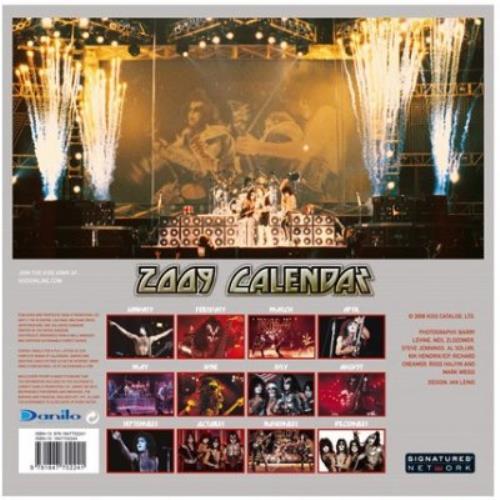 Kiss Official Calendar 2009 calendar UK KISCAOF430896